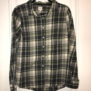 J.Crew Long Sleeve Flannel Button Down
